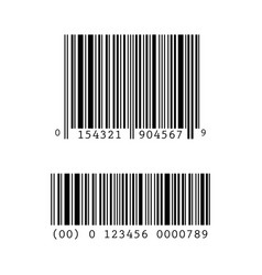 set collection of barcode templates vector image