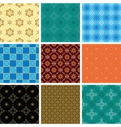 set of color seamless pattern vector image vector image
