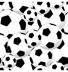 Soccer balls seamless pattern vector image