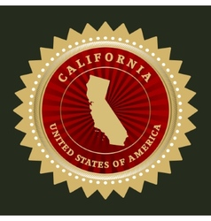 Star label california vector