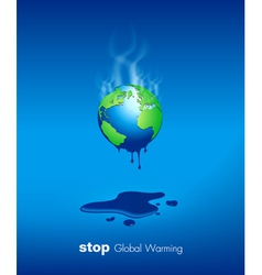 Stop global warming design vector