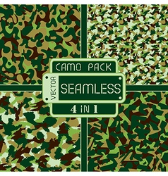 War universal nature seamless camouflage pack vector image