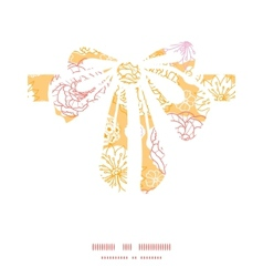 Warm day flowers gift bow silhouette vector