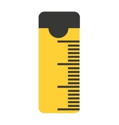 Tape measure ribbon icon vector