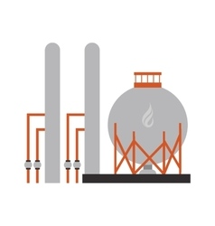 Gas or oil refinery icon vector