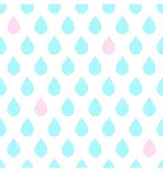 Light Blue Pink Water Drops White Background vector image