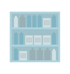 Shelf stand furniture design vector