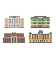 Flat historical buildings vector