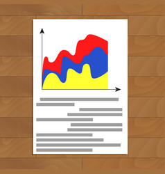 Stats documents image vector