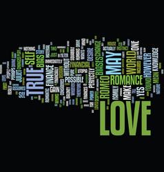 The economics of true love text background word vector