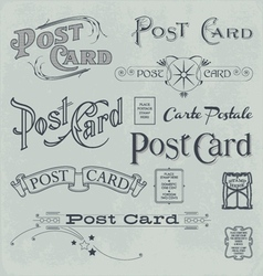 Postcard backside designs vector