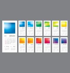 2018 creative calendar vector image