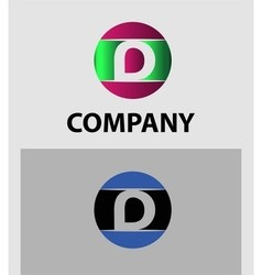 Set of letter d logo icons design template element vector