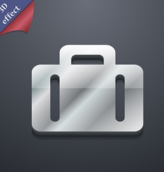Suitcase icon symbol 3d style trendy modern design vector