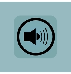 Pale blue loudspeaker sign vector