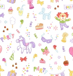 Kids party seamless pattern vector