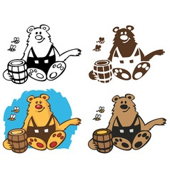 Bear and ointment vector image