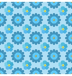Flowers stylized chamomile forget-me-not seamless vector image