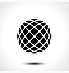 Abstract globe design icon vector
