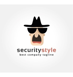 Abstract spy face logo icon concept Logotype vector image