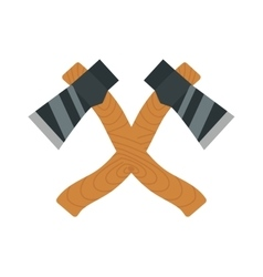 Axe logo steel isolated and sharp axe cartoon vector