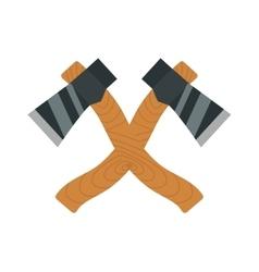 Axe logo steel isolated and sharp axe cartoon vector image vector image