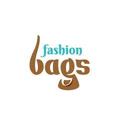 Bags shop logo template vector