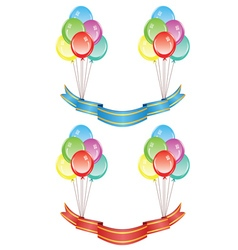 Balloons with Banners vector image