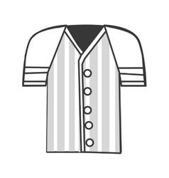 baseball shirt icon vector image