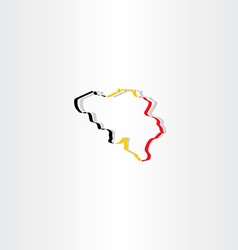 belgium map icon vector image