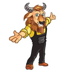 Bison mascot vector