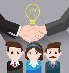 Business idea for teamwork success vector