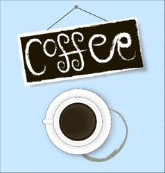 Coffee cup stain sign and shadow vector