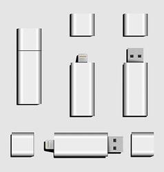 Dual usb micro usb and usb flash drive vector