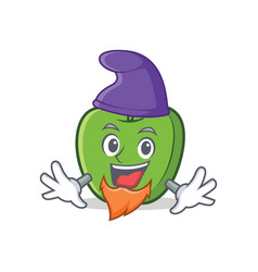 Elf green apple character cartoon vector