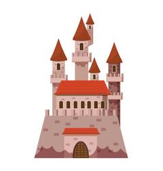 fairytale castle icon cartoon style vector image