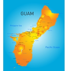 Guam map vector image vector image