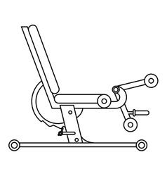 Gym bench icon vector