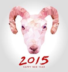 Happy goat year polygon vector