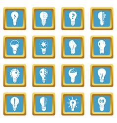 lamp logo icons azure vector image