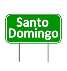 Santo domingo road sign vector