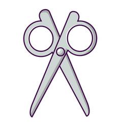 scissors icon cartoon style vector image