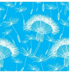 Seamless background with overblown dandelion vector