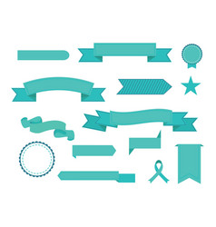set of ribbons modern flat icons in vector image