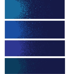 Spray paint banner detail in blue over deep blue vector