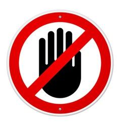 Stop Hand Symbol vector image