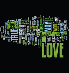 The economics of true love text background word vector