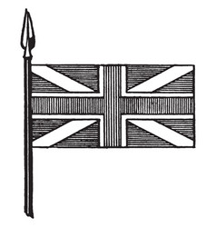 Union flag crosses of st george st andrew and st vector
