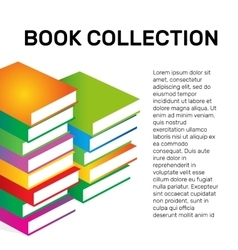 Isolated colorful books collection logo vector