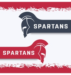 Spartans logo with warrior helmet with mohawk in vector